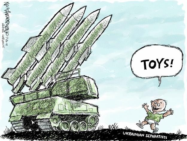 Toys! Ukrainian separatists.