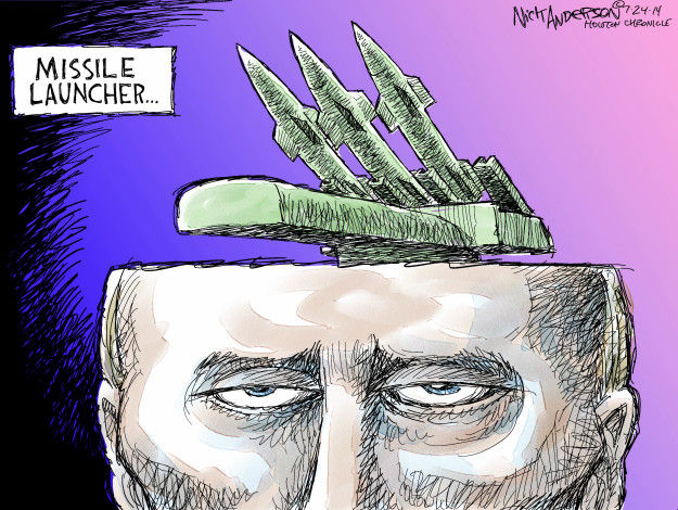 Cartoonist Nick Anderson  Nick Anderson's Editorial Cartoons 2014-07-24 missile