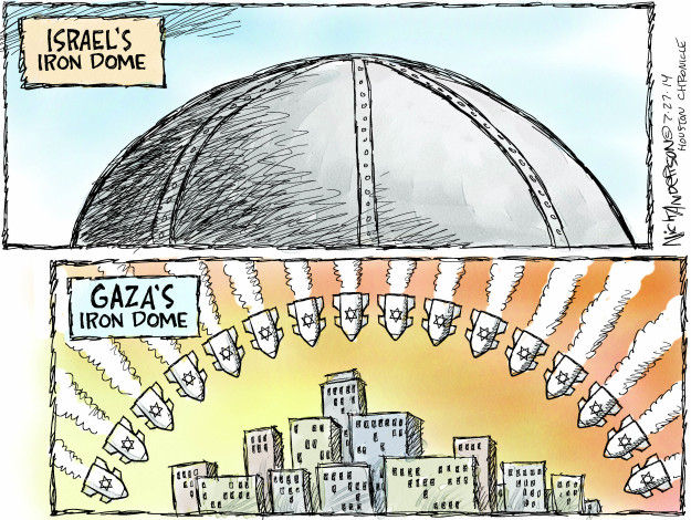Cartoonist Nick Anderson  Nick Anderson's Editorial Cartoons 2014-07-27 missile