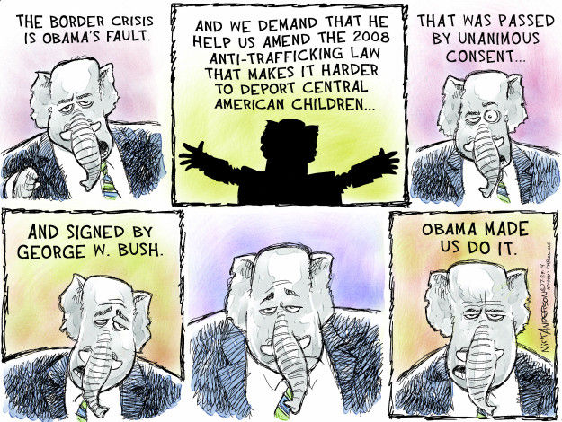 Cartoonist Nick Anderson  Nick Anderson's Editorial Cartoons 2014-07-29 demand