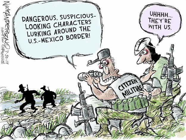 Nick Anderson  Nick Anderson's Editorial Cartoons 2014-07-30 militia