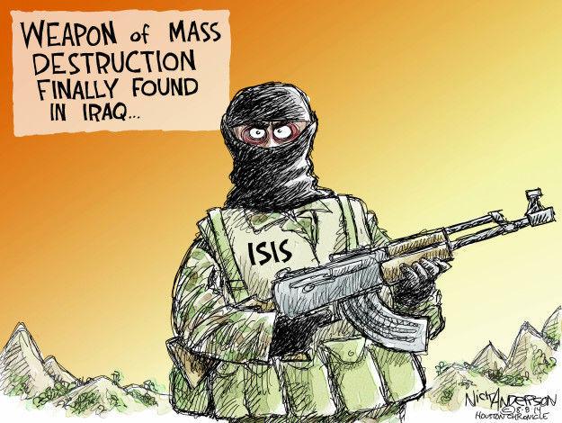 Cartoonist Nick Anderson  Nick Anderson's Editorial Cartoons 2014-08-08 weapon