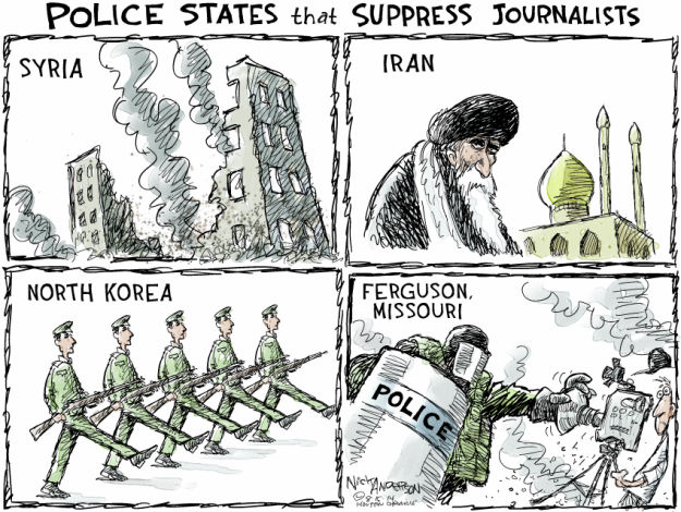 Nick Anderson  Nick Anderson's Editorial Cartoons 2014-08-15 freedom of the press