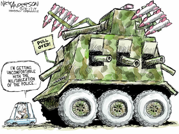 Cartoonist Nick Anderson  Nick Anderson's Editorial Cartoons 2014-08-17 shooting