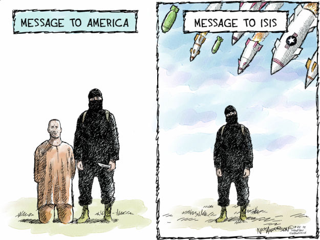 Cartoonist Nick Anderson  Nick Anderson's Editorial Cartoons 2014-08-22 missile