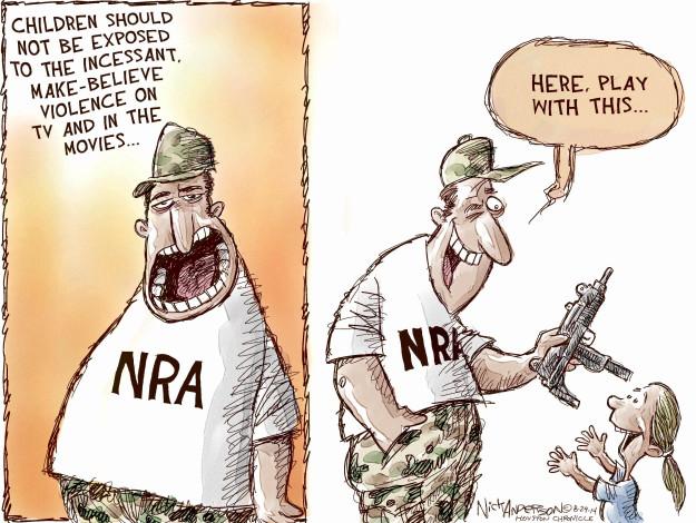 Cartoonist Nick Anderson  Nick Anderson's Editorial Cartoons 2014-08-29 gun rights