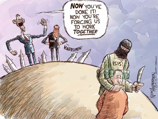 Nick Anderson  Nick Anderson's Editorial Cartoons 2014-09-14 warfare