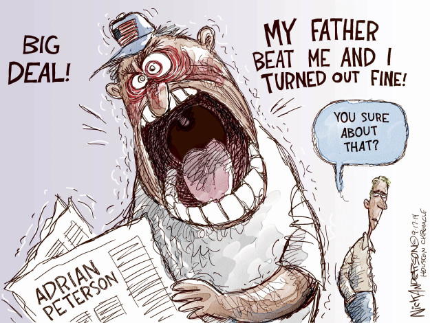 Cartoonist Nick Anderson  Nick Anderson's Editorial Cartoons 2014-09-17 child abuse