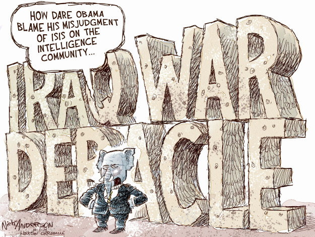 Cartoonist Nick Anderson  Nick Anderson's Editorial Cartoons 2014-10-01 George Bush