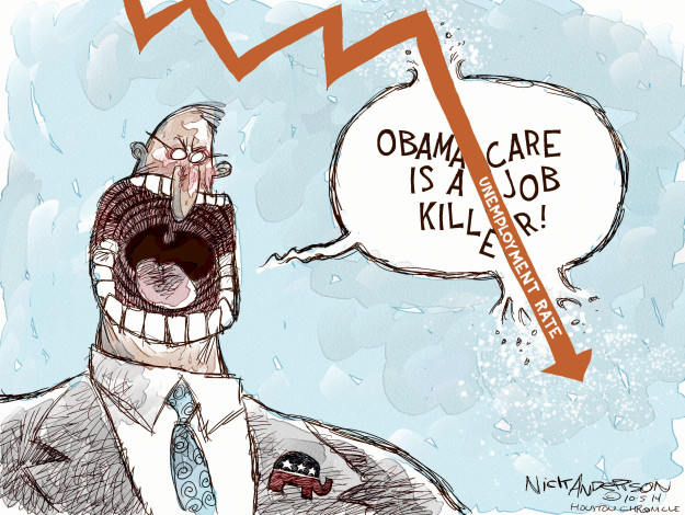 Cartoonist Nick Anderson  Nick Anderson's Editorial Cartoons 2014-10-05 unemployment