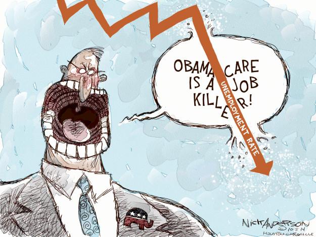 Cartoonist Nick Anderson  Nick Anderson's Editorial Cartoons 2014-10-05 health care policy