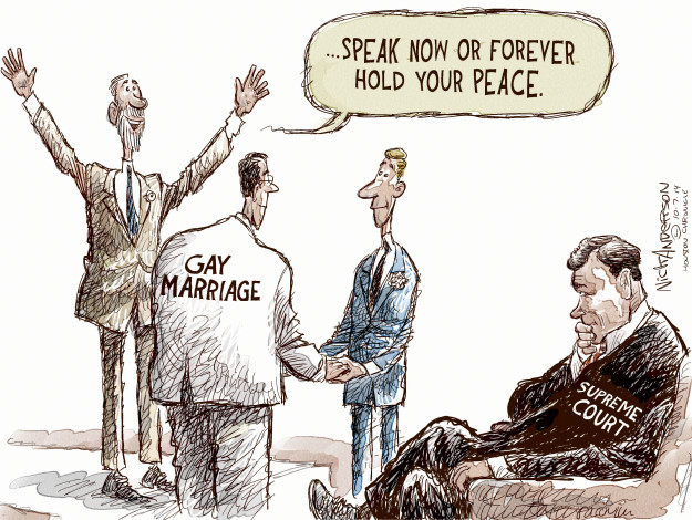 Nick Anderson  Nick Anderson's Editorial Cartoons 2014-10-07 supreme court decision