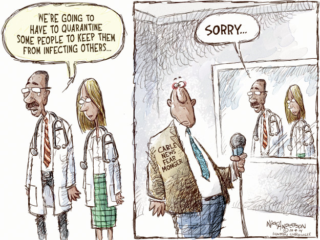 Cartoonist Nick Anderson  Nick Anderson's Editorial Cartoons 2014-10-08 cable news