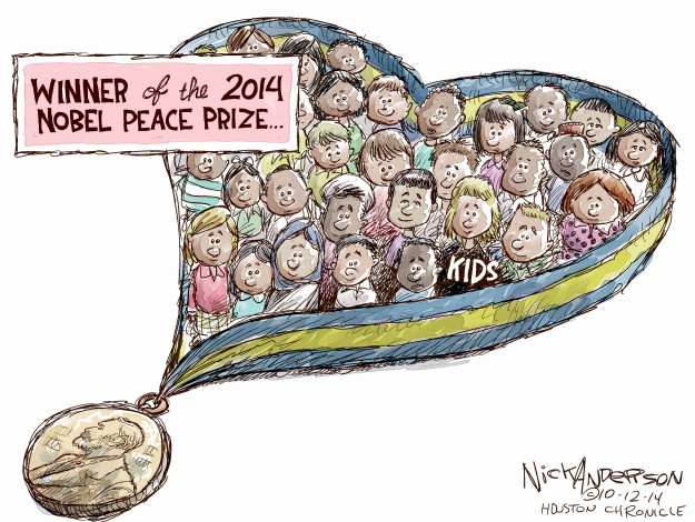 Cartoonist Nick Anderson  Nick Anderson's Editorial Cartoons 2014-10-12 human rights