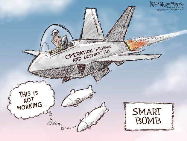 "Operation ""Degrade and Destroy"" ISIS. This is not working … Smart Bomb."