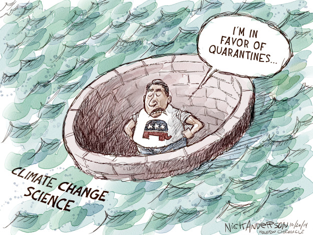 Cartoonist Nick Anderson  Nick Anderson's Editorial Cartoons 2014-10-29 disease