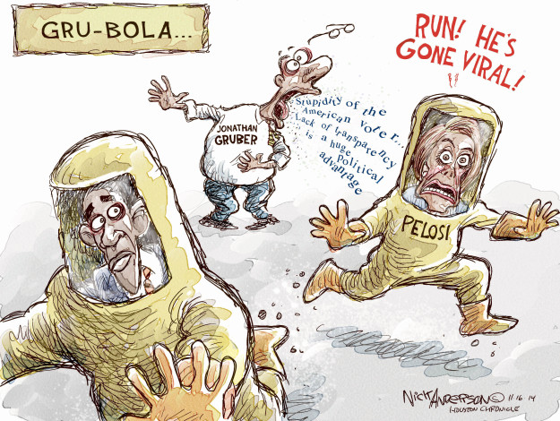 Cartoonist Nick Anderson  Nick Anderson's Editorial Cartoons 2014-11-16 health care policy