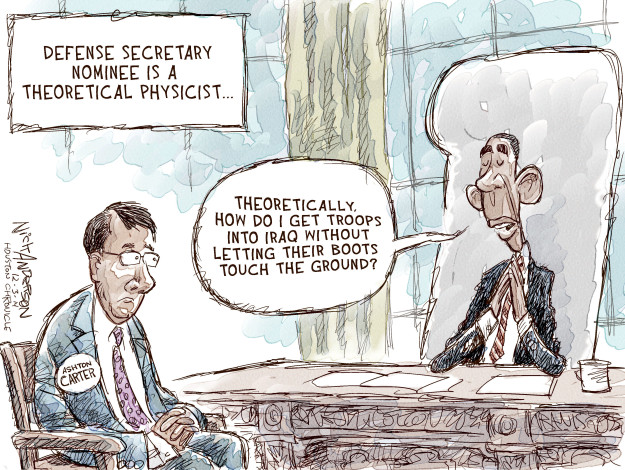 Cartoonist Nick Anderson  Nick Anderson's Editorial Cartoons 2014-12-03 defense