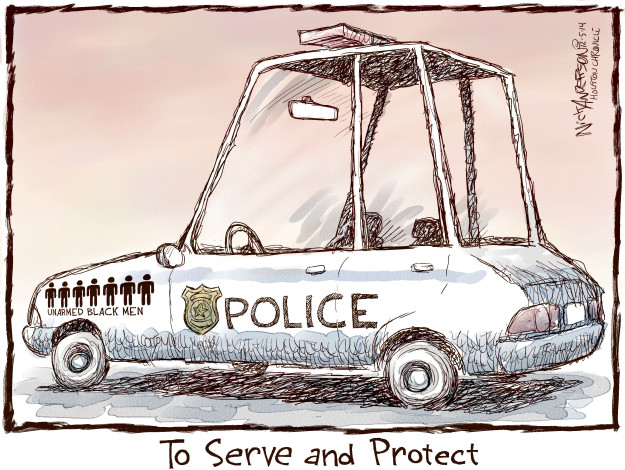 Cartoonist Nick Anderson  Nick Anderson's Editorial Cartoons 2014-12-05 shooting