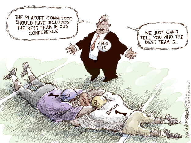 Cartoonist Nick Anderson  Nick Anderson's Editorial Cartoons 2014-12-09 college sports