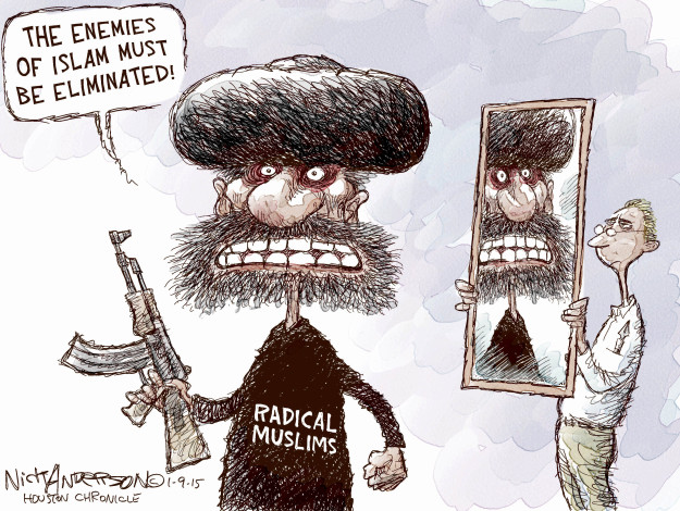 Cartoonist Nick Anderson  Nick Anderson's Editorial Cartoons 2015-01-09 terrorism