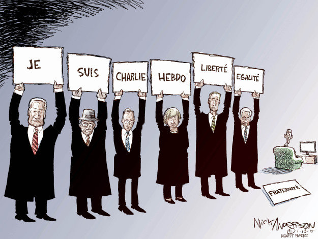 Nick Anderson  Nick Anderson's Editorial Cartoons 2015-01-13 freedom of the press