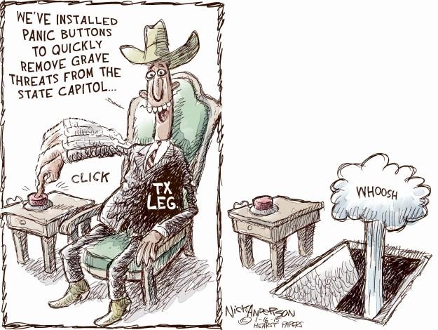 Cartoonist Nick Anderson  Nick Anderson's Editorial Cartoons 2015-01-16 Texas legislature