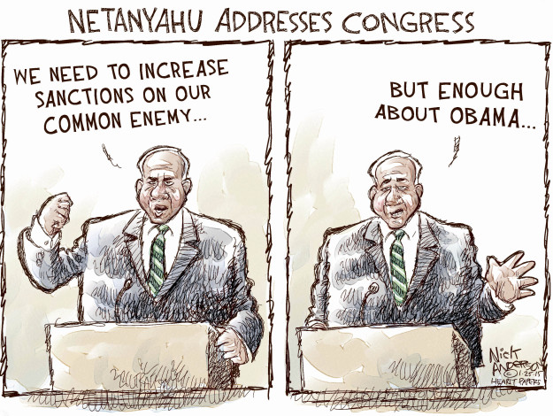 Cartoonist Nick Anderson  Nick Anderson's Editorial Cartoons 2015-01-25 Israel