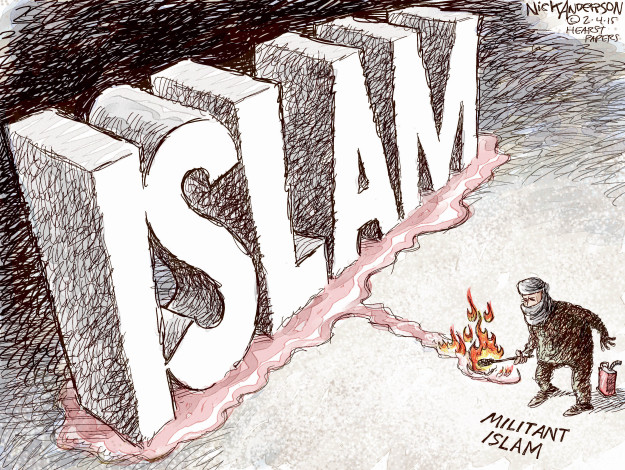 Cartoonist Nick Anderson  Nick Anderson's Editorial Cartoons 2015-02-04 terrorism