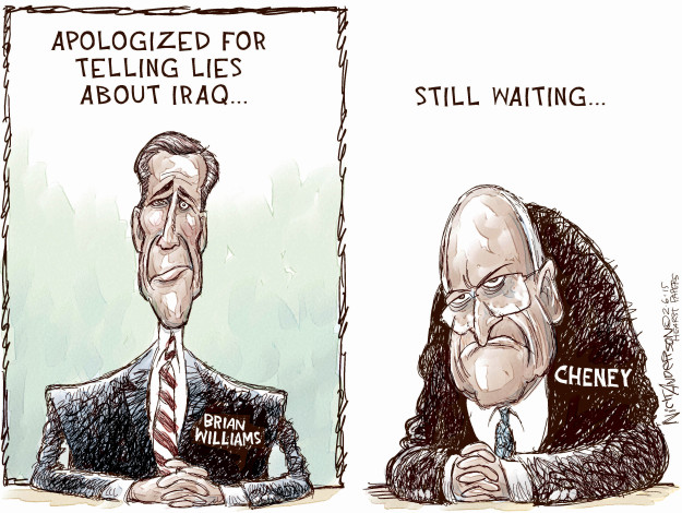 Cartoonist Nick Anderson  Nick Anderson's Editorial Cartoons 2015-02-06 Dick Cheney