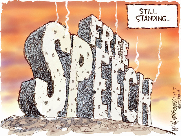 Cartoonist Nick Anderson  Nick Anderson's Editorial Cartoons 2015-02-17 freedom