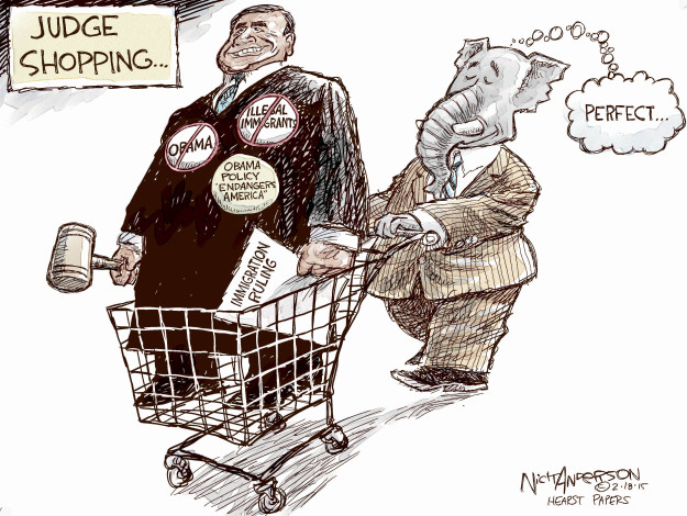 Nick Anderson  Nick Anderson's Editorial Cartoons 2015-02-18 anti-immigration