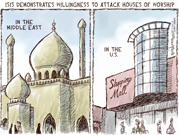 Cartoonist Nick Anderson  Nick Anderson's Editorial Cartoons 2015-02-25 extremist