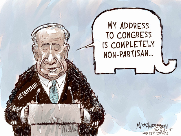 Cartoonist Nick Anderson  Nick Anderson's Editorial Cartoons 2015-02-27 Israel