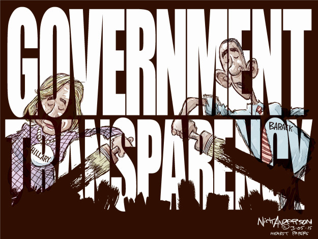 Government transparency. Hillary. Barack.