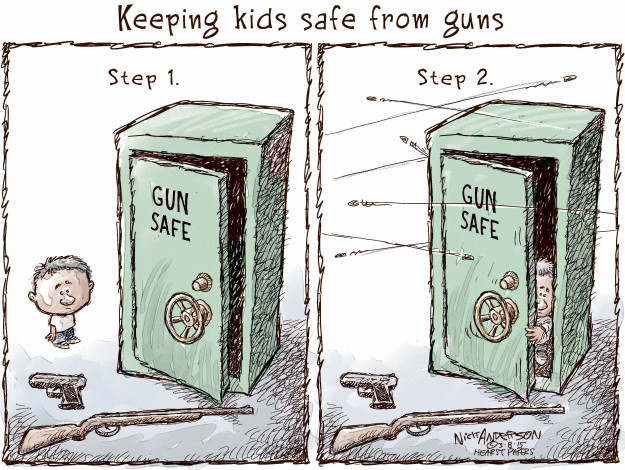 Cartoonist Nick Anderson  Nick Anderson's Editorial Cartoons 2015-03-08 weaponry