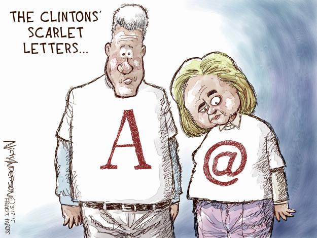 Cartoonist Nick Anderson  Nick Anderson's Editorial Cartoons 2015-03-12 Bill Clinton