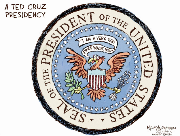 Cartoonist Nick Anderson  Nick Anderson's Editorial Cartoons 2015-03-24 Ted Cruz