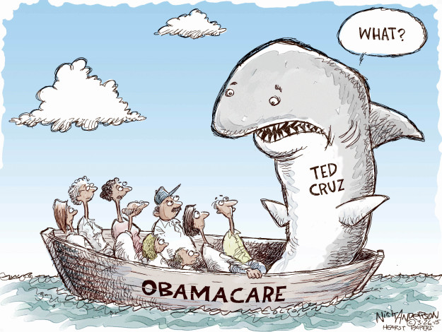 Cartoonist Nick Anderson  Nick Anderson's Editorial Cartoons 2015-03-26 affordable care act