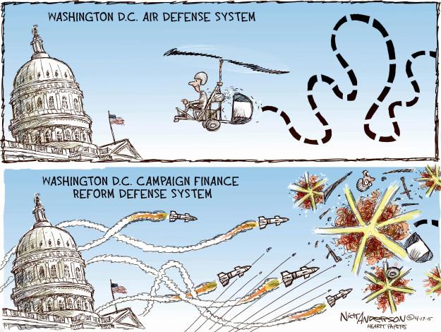 Cartoonist Nick Anderson  Nick Anderson's Editorial Cartoons 2015-04-17 defense