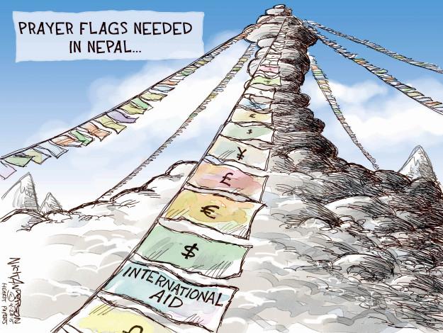 Prayer flags needed in Nepal … International aid.