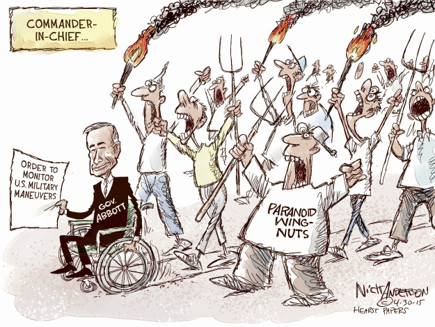 Cartoonist Nick Anderson  Nick Anderson's Editorial Cartoons 2015-04-30 paranoid
