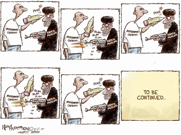 Cartoonist Nick Anderson  Nick Anderson's Editorial Cartoons 2015-05-05 extremist