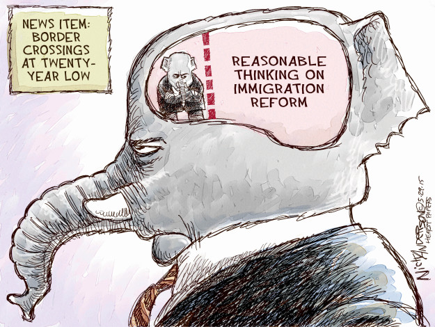 Nick Anderson  Nick Anderson's Editorial Cartoons 2015-05-29 immigration