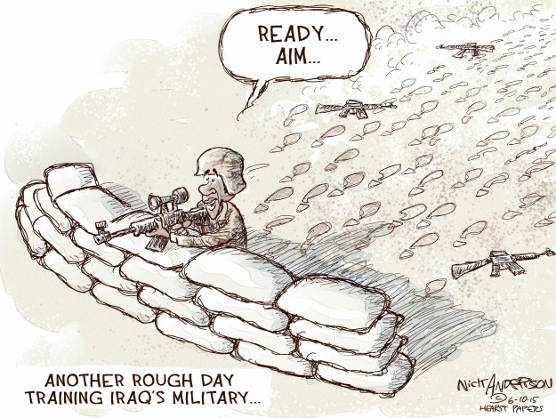 Nick Anderson  Nick Anderson's Editorial Cartoons 2015-06-10 military strategy