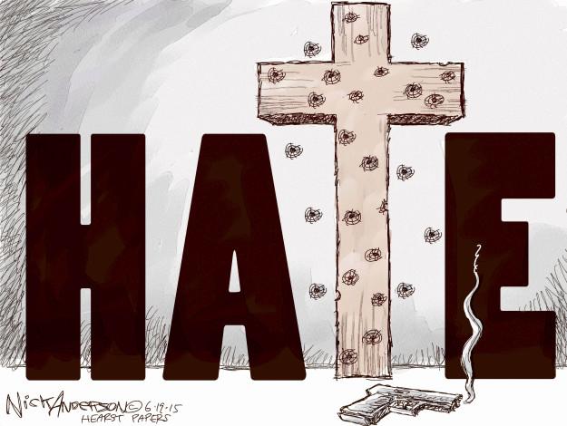 Nick Anderson  Nick Anderson's Editorial Cartoons 2015-06-19 racism