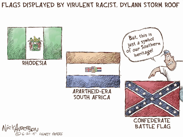 Cartoonist Nick Anderson  Nick Anderson's Editorial Cartoons 2015-06-21 supremacist