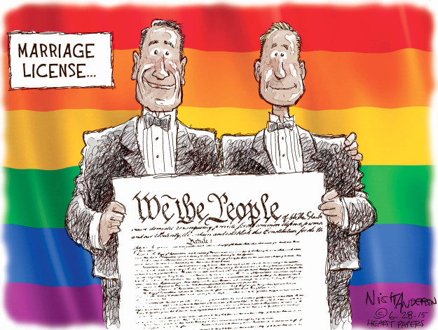 Nick Anderson  Nick Anderson's Editorial Cartoons 2015-06-28 supreme court decision