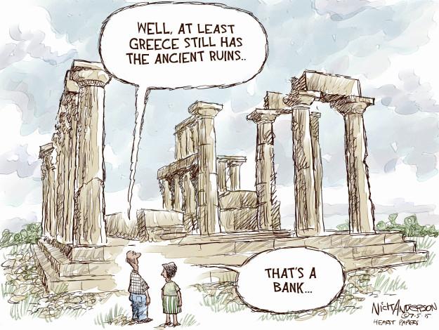 Cartoonist Nick Anderson  Nick Anderson's Editorial Cartoons 2015-07-05 debt