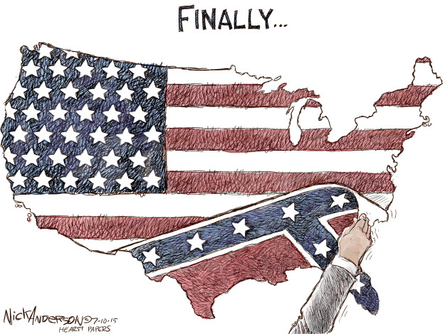Cartoonist Nick Anderson  Nick Anderson's Editorial Cartoons 2015-07-10 America
